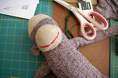 Learn to make a sock monkey and support a good cause
