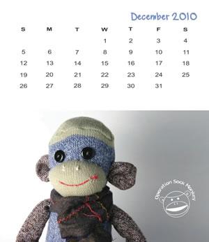 Sock Monkey Calendar 2010