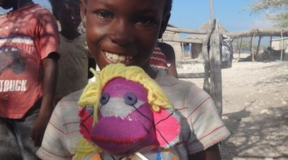 Monkey Hugs in Haiti